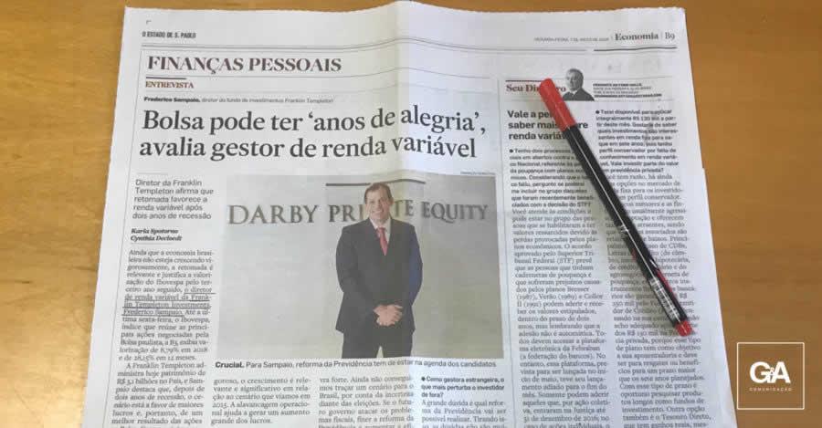 Frederico Sampaio, da Franklin Templeton concede entrevista ao Estadão