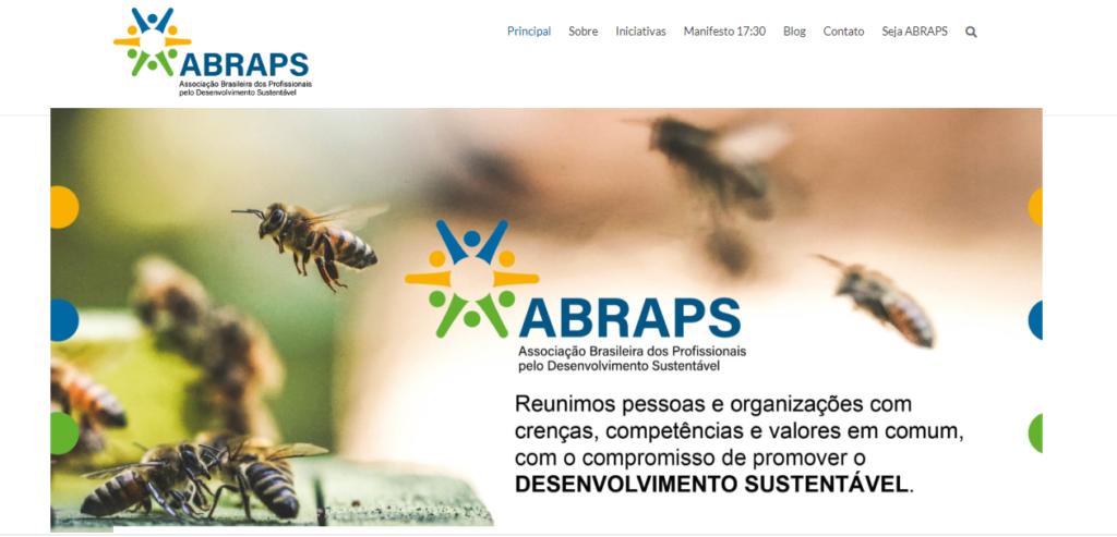 screenshot do site da Abraps - responsabilidade empresarial