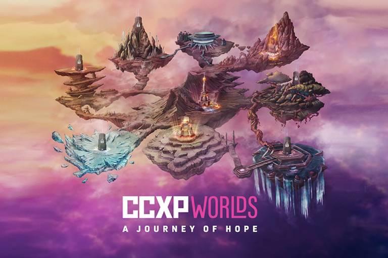cartaz CCXP Worlds - como fazer eventos online