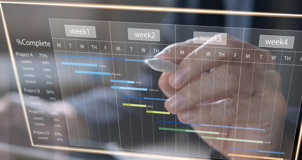 cronograma com aparência digital - relacionamento com influenciadores